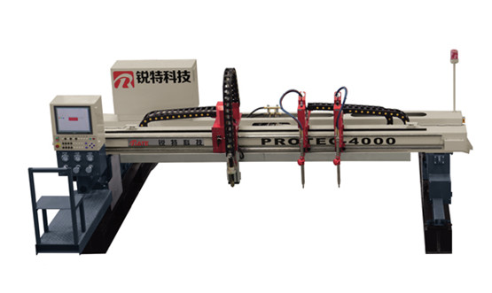 Customer at the Meijiang Exhibition Center Exhibition ordered of PROTEC Gantry cutting machine at work now